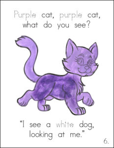 Free Brown Bear Texture Book-Purple Cat