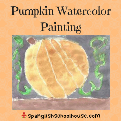 Pumpkin Watercolor Painting