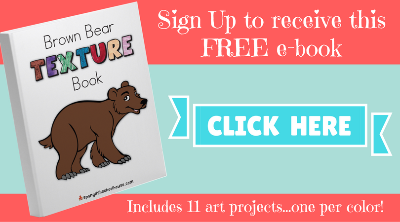 FREE Brown Bear Texture Book featuring an art project for every color!