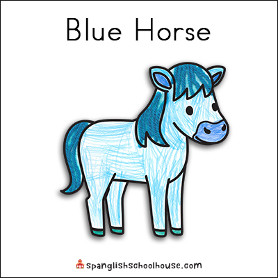 Brown Bear Texture Book-Blue Horse