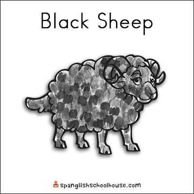 Black Sheep Printable for Brown Bear Texture Book