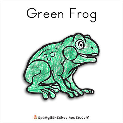 Green Frog Printable for Brown Bear Texture Book