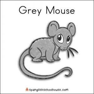 Gray Mouse Printable for Brown Bear Texture Book