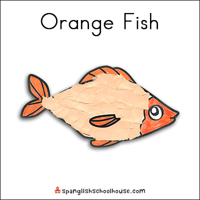 Orange Fish Printable for Brown Bear Texture Book