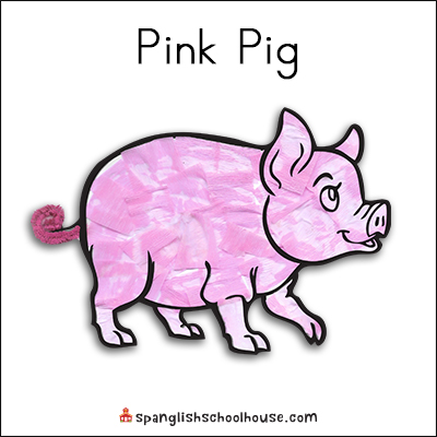 Pink Pig Printable for Brown Bear Texture Book