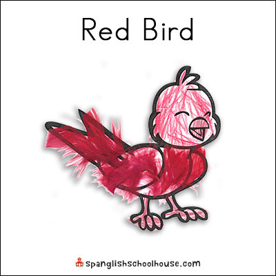 Red Bird Printable for Brown Bear Texture Book