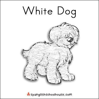 White Dog Printable for Brown Bear Texture Book