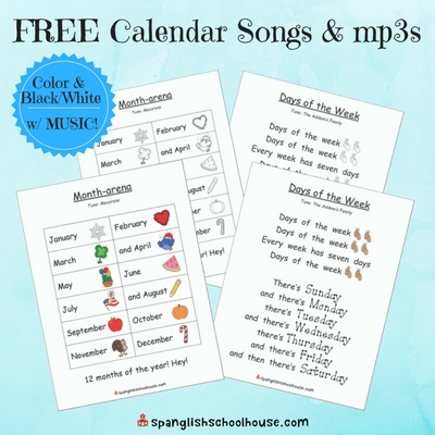 Free Calendar Songs with Music to Download