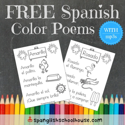 FREE Spanish Color Poems