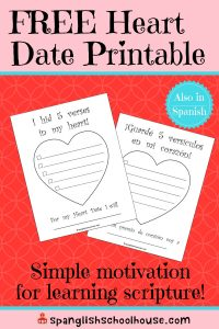 Simple Way to Motivate Scripture Memory ~ Heart Date