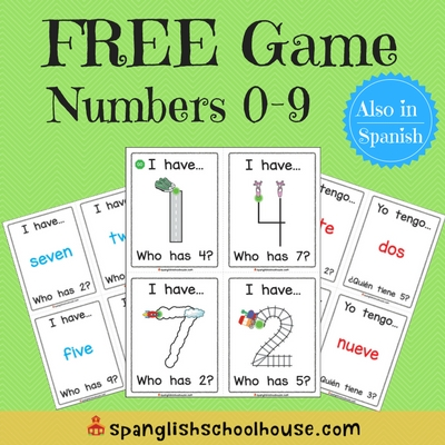 FREE I Have, Who Has? Math game (in Spanish too!)