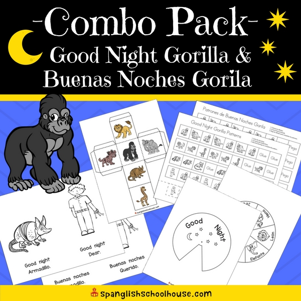 Good Night Gorilla Activity Pack - English and Spanish Version