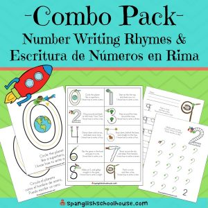 Number Writing Rhymes-English and Spanish Version