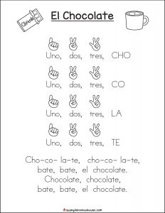 Free Printable El Chocolate Song