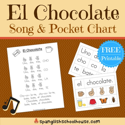 El Chocolate Song Printable