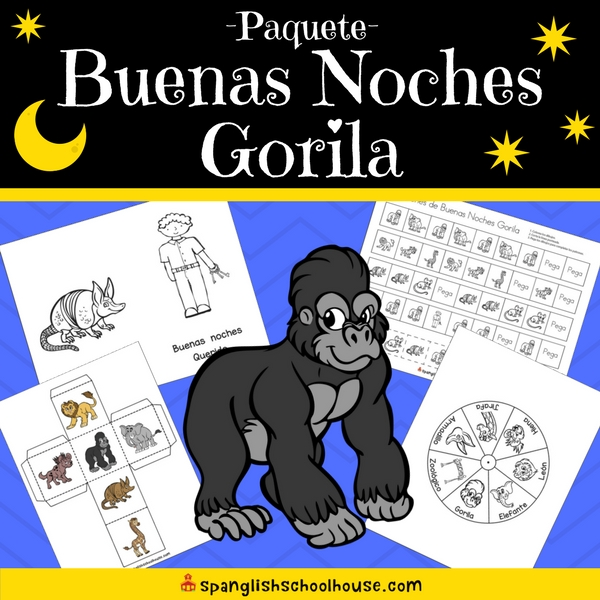 Good Night Gorilla Activity Pack - Spanish Version