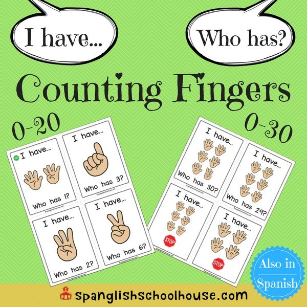 I have, Who has Counting Fingers-English Version