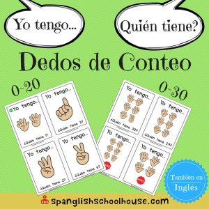I have, Who has Counting Fingers Spanish