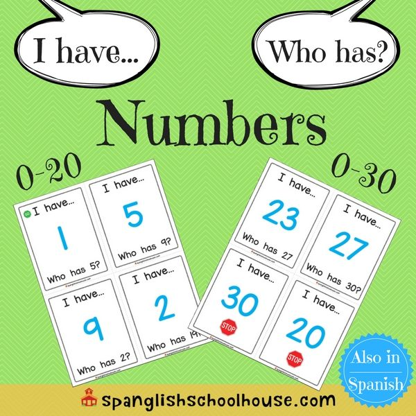 I have, Who has Numbers-English Version