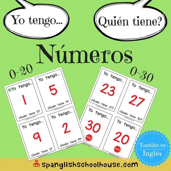 I have, Who has Numbers-Spanish Version