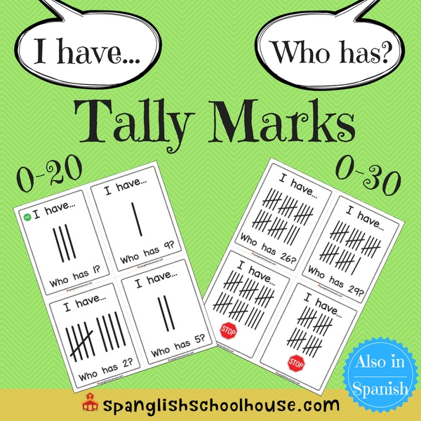 I have, Who has Tally Marks - English Version