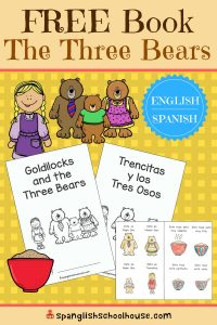 Goldilocks and the Three Bears free printable
