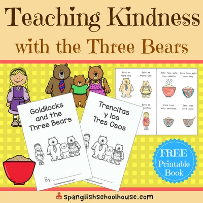 Teaching Kindness with Goldilocks {and FREE Three Bears book}