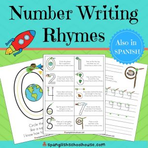 Number Writing Rhymes-English Version