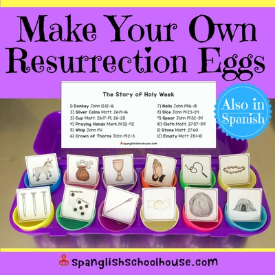 image relating to Resurrection Egg Story Printable referred to as Do-it-yourself Resurrection Eggs within just Spanish - Spanglish Schoolhouse