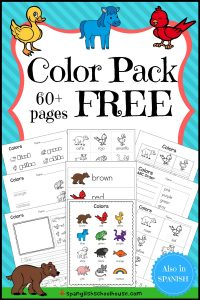 FREE Color Word Printables