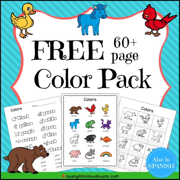 Free Spanish Color Printables {60 pages of Color Fun}