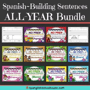 Spanish Sentence Building All Year Bundle