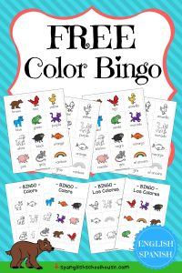 FREE Bilingual Color Bingo in English and Spanish