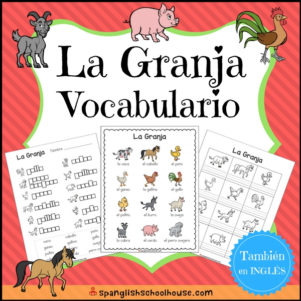 Farm Vocabulary - Spanish