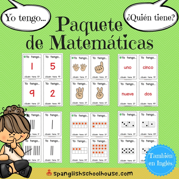 I have, Who has Math Bundle-Spanish Version