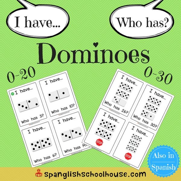 I have, Who has Dominoes - English Version