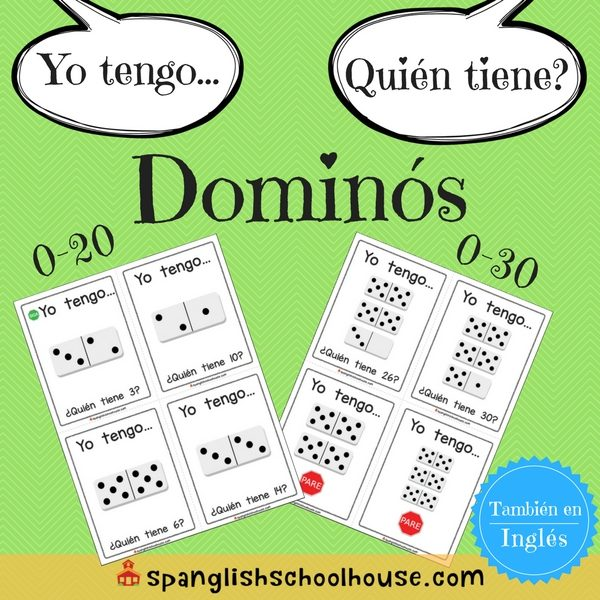 I have, Who has Dominoes - Spanish Version