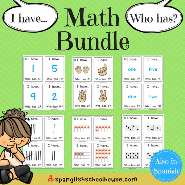 I have, Who has Math Bundle-English Version