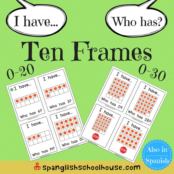 I have, Who has Ten Frames-English Version