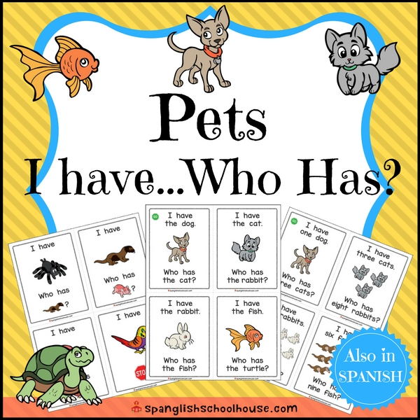 Pets I Have Who Has in English