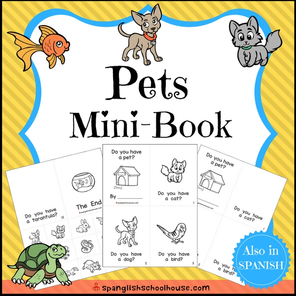 Pets Mini-Book in English