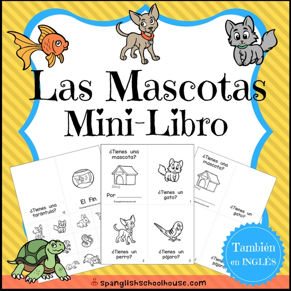 Pets Mini-Book in Spanish