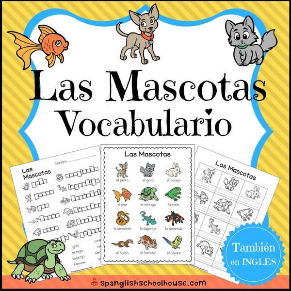 Pets Vocabulary in Spanish