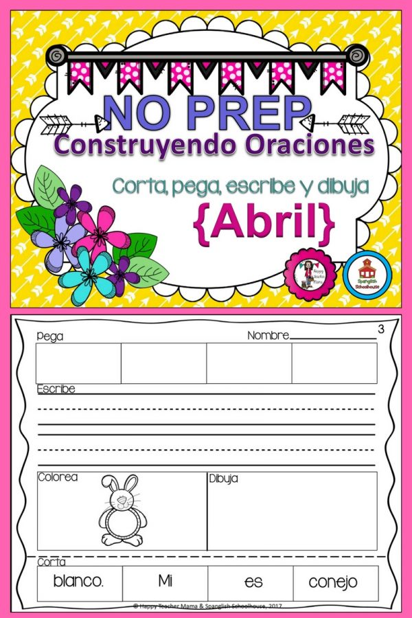 Spanish Build a Sentence April