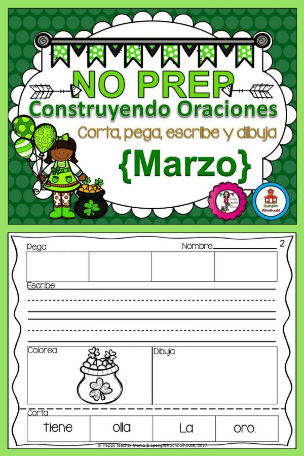 Spanish Build a Sentence March
