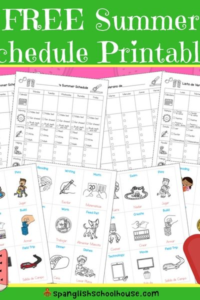 Summer Schedule Printables for Children