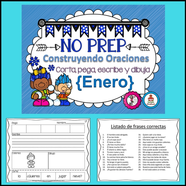 Spanish Sentence Building January