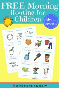 Spanish Morning Routine Printables