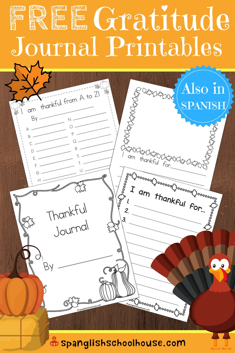 Free gratitude journal printable for children