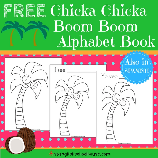 graphic relating to Chicka Chicka Boom Boom Tree Printable titled No cost Chicka Chicka Growth Growth Printable Alphabet E-book